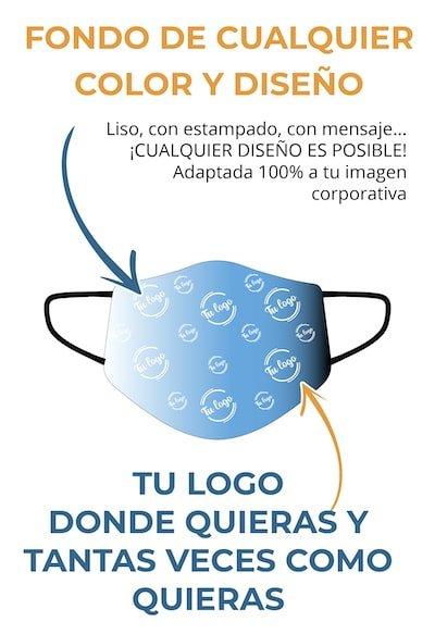 Compra Mascarillas higiénicas personalizadas, cualquier diseño o logo serigrafiado