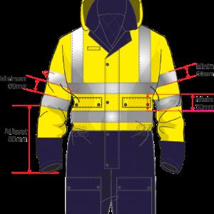 Tamaños mínimos ropa alta visibilidad EN 20471