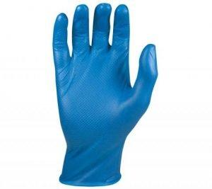 Guantes desechables azul
