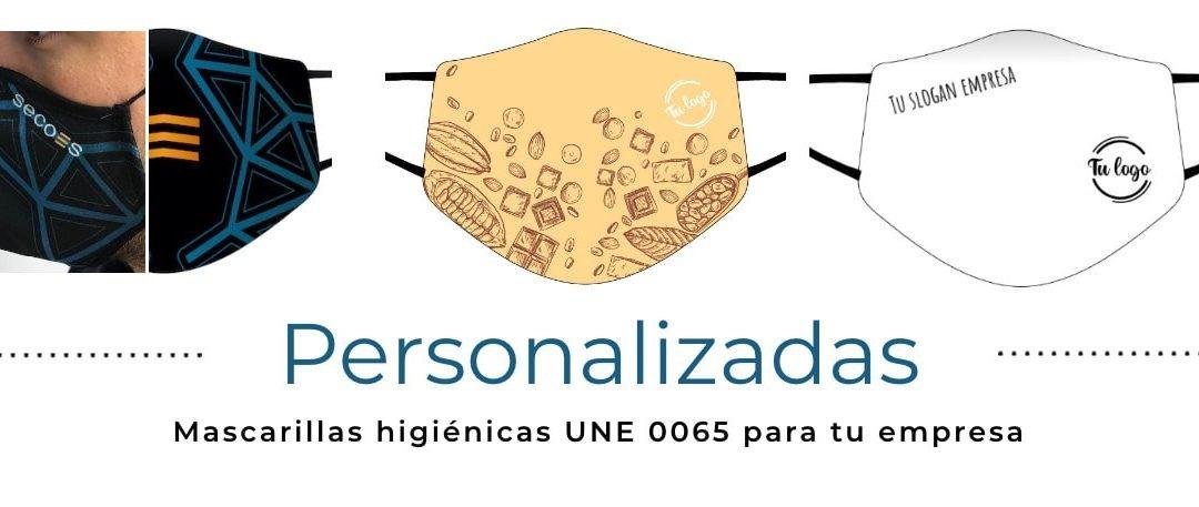 Mascarillas higiénicas personalizadas y reutilizables (UNE 0065)