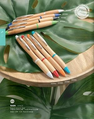 bolígrafos madera- merchandising empresas