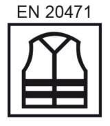 chaleco para el marcado de la ropa alta visibilidad EN 20471