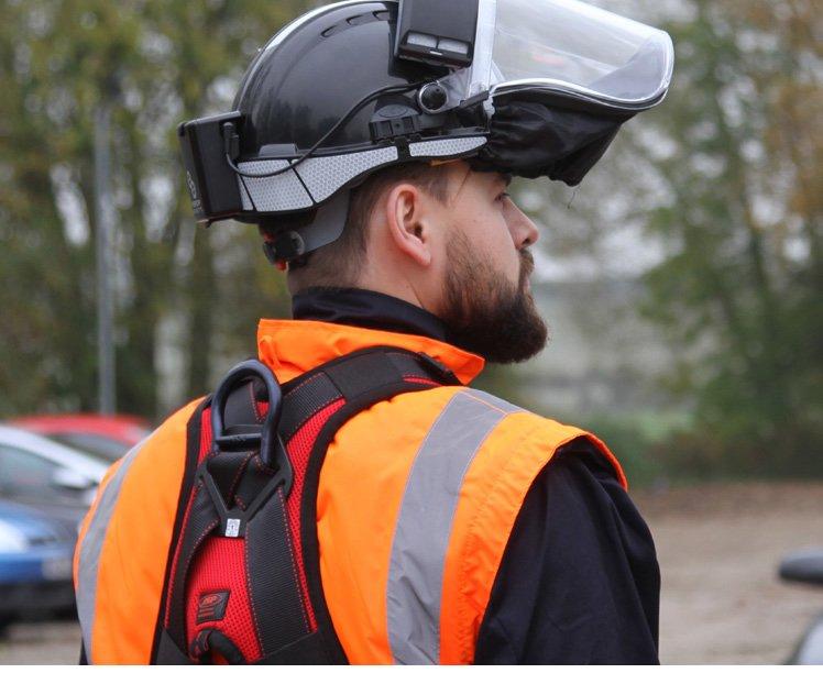 PowerCap® Infinity® de JSP, protección de cabeza, respiratoria y pantalla todo en uno