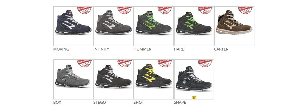 Zapatillas de seguridad altas RedLion con suela Infinergy